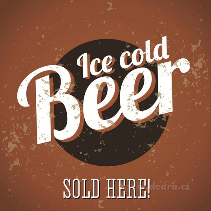 Obraz na plátně ICE COLD BEER, 28 x 28 cm