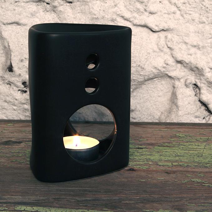 Keramická aromalampa, matná černá