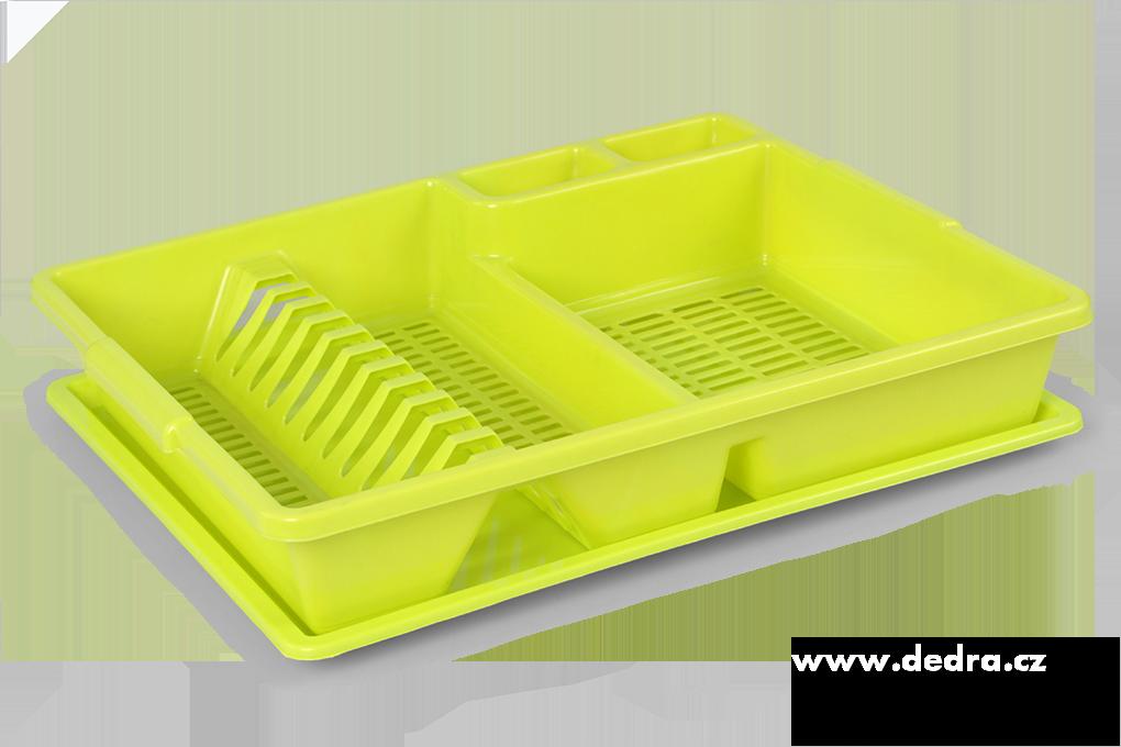 Odkapátor zelený odkapávač na nádobí