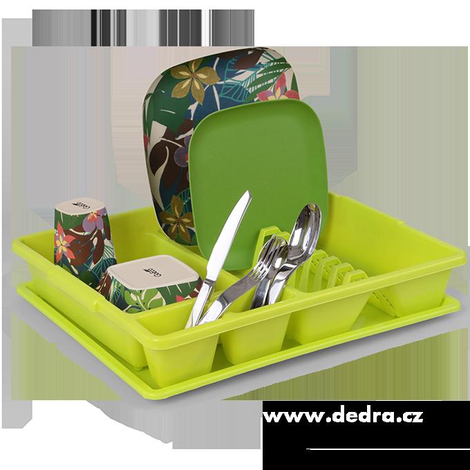 Odkapátor zelený, velký odkapávač na nádobí