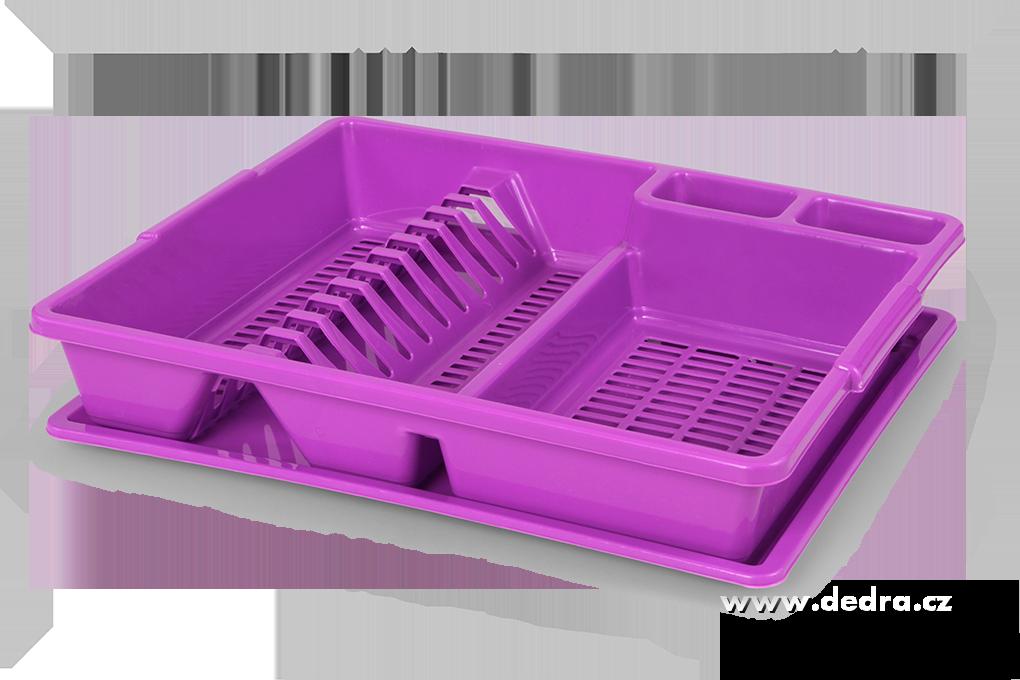 Odkapátor fialový odkapávač na nádobí