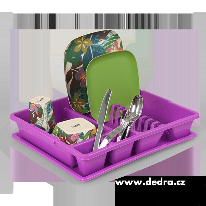 Odkapátor fialový, velký odkapávač na nádobí