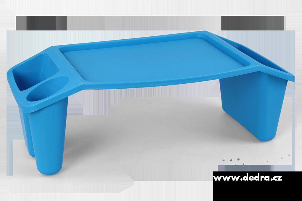 Gaučostolek & postelostolek modrý přenosný stolek
