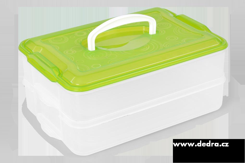 2 PATROVÝ XXL BUCHTONOŠ  box na potraviny 2x 3500 ml