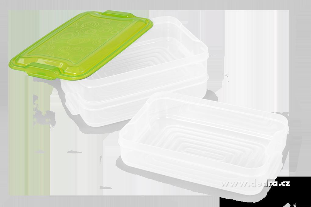 Trojobal 3x 800 ml, box na potraviny