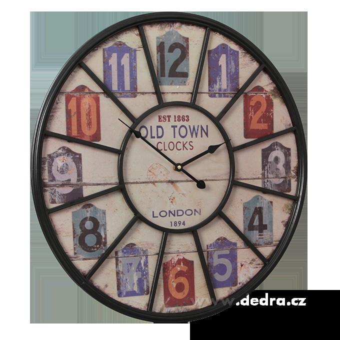 XXL dřevěné hodiny, LONDON 1894 nástěnné