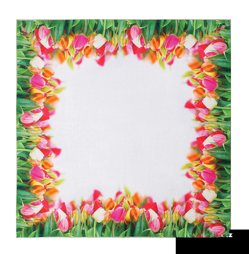 Ubrus 85 x 85 cm tulipán