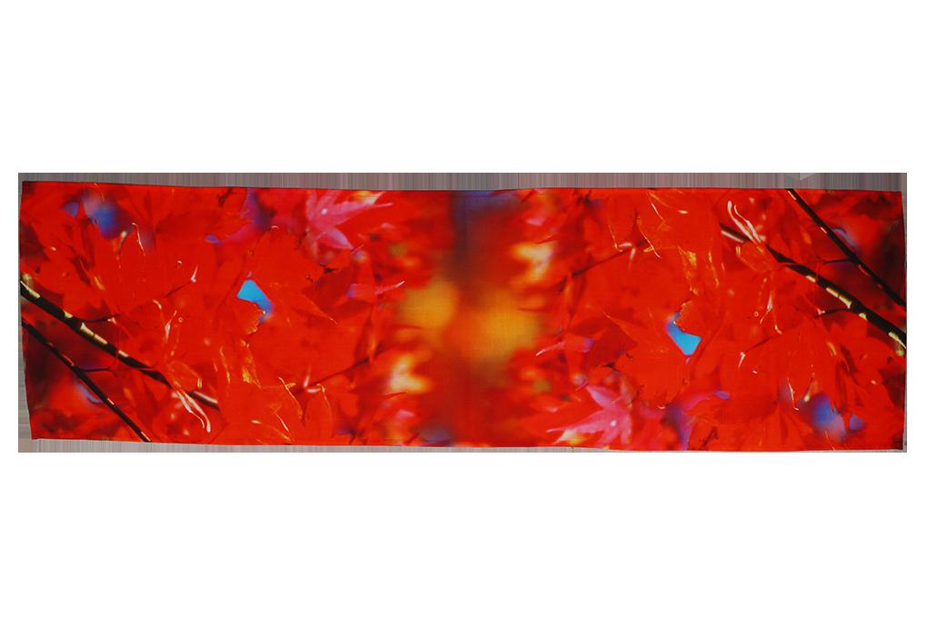 Běhoun na stůl červené listí 40 x 150 cm