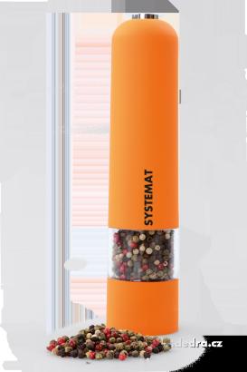 XXL el. mlýnek s LED osvětlením oranžový,v.: 22 cm