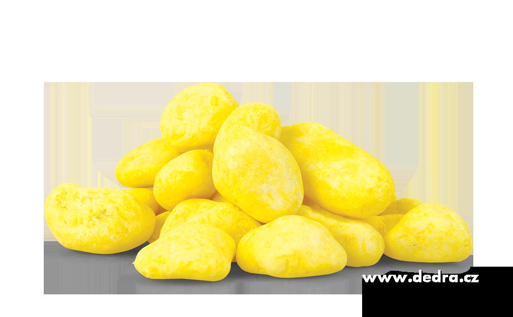 Dekorativní kameny citrónové