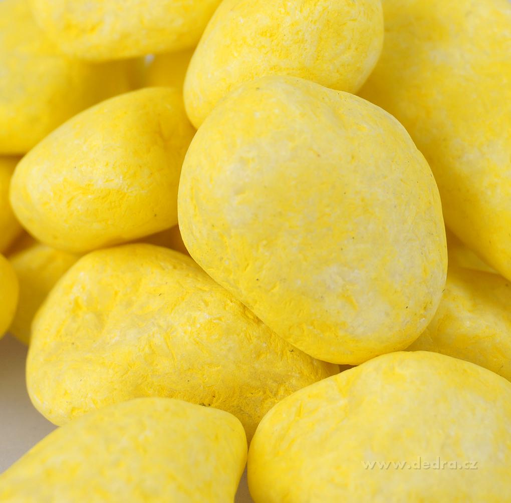 Dekorativní kameny, citrónové, 500g