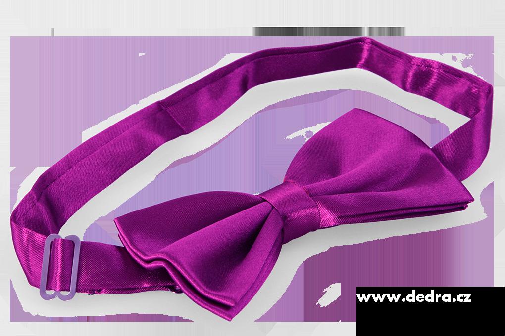 Saténový motýlek, burgundsky fialový