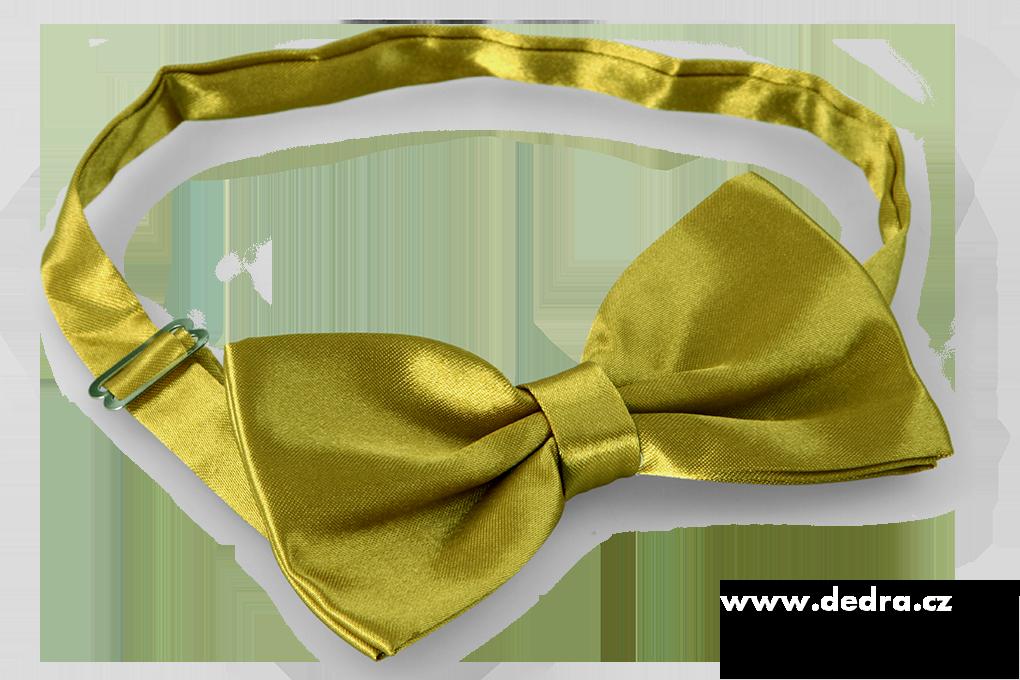 FC90327-Saténový motýlik olivový
