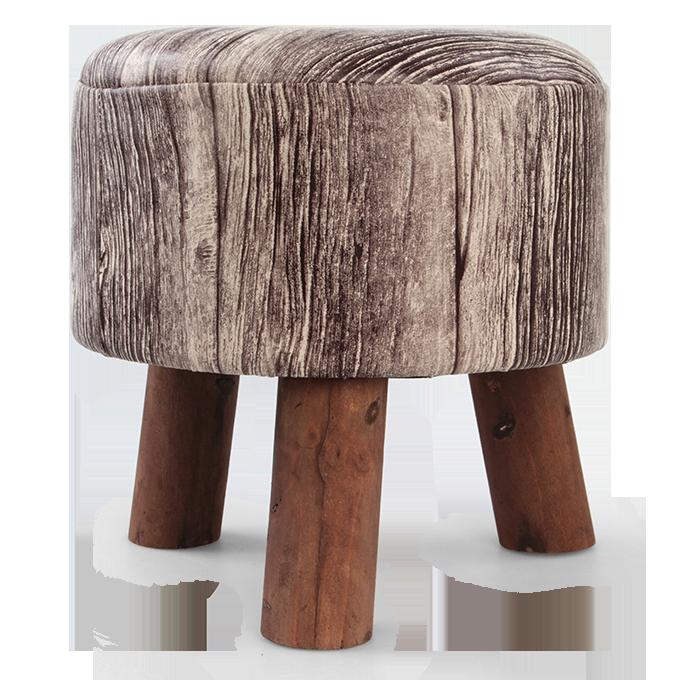 Taburet TROJNOŽKA, imitace dřeva
