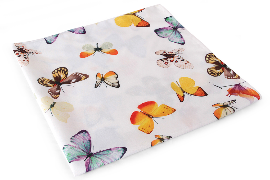 Ubrus s motýly 85x85 cm