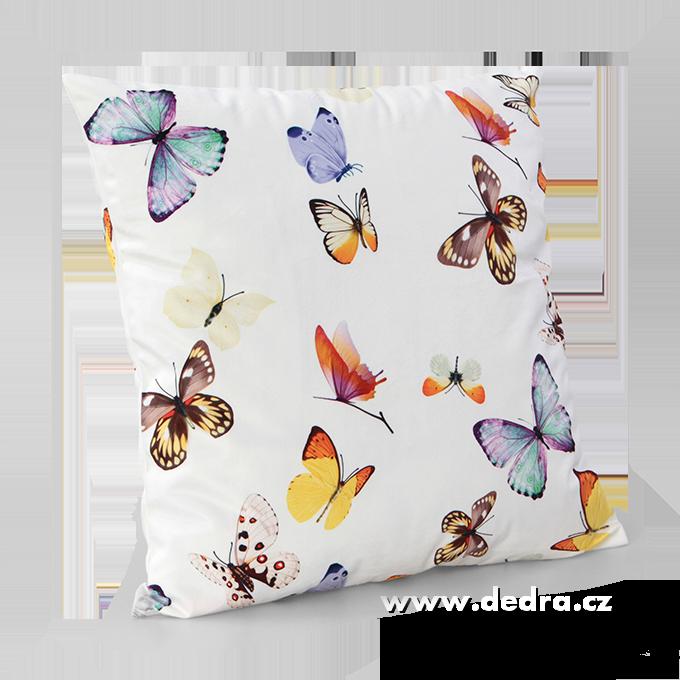 Potah na polštář 45x45 cm motýli