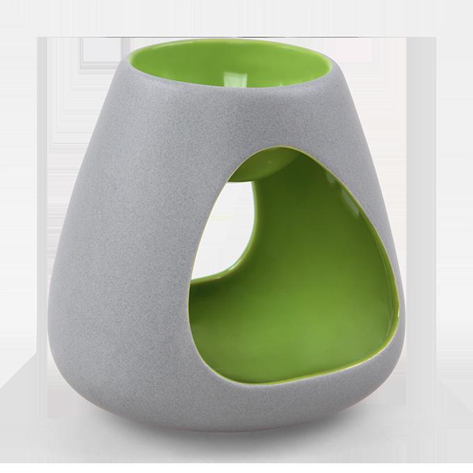 BALI CERAMICS aromalampa šedá/zelená