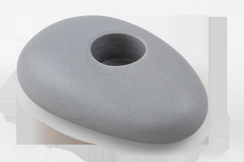 DA90602-BALI CERAMICS svietnik väčší kamienok prírodné šedý