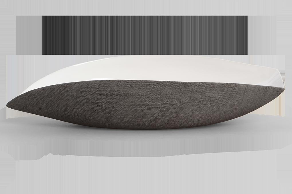 DA9069-Keramická misa antracitová podlhovastého tvaru STONE