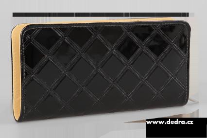 Psaníčko/peněženka uzavíratelná na zip z ekokůže černé