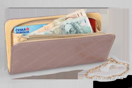 Psaníčko/peněženka, uzavíratelné na zip