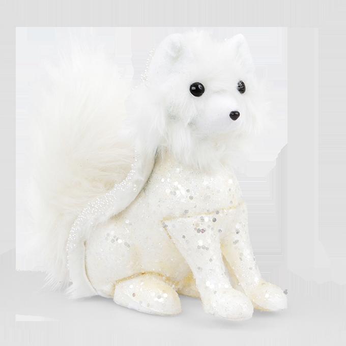 Bílá liška bohatě zdobená