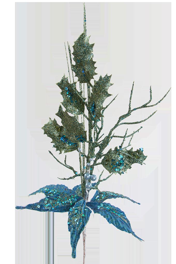 54 cm dekorativní svazek s třpytivým finišem