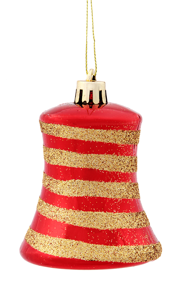 DA91093-5 ks ozdôb zvonček červené so špirálou