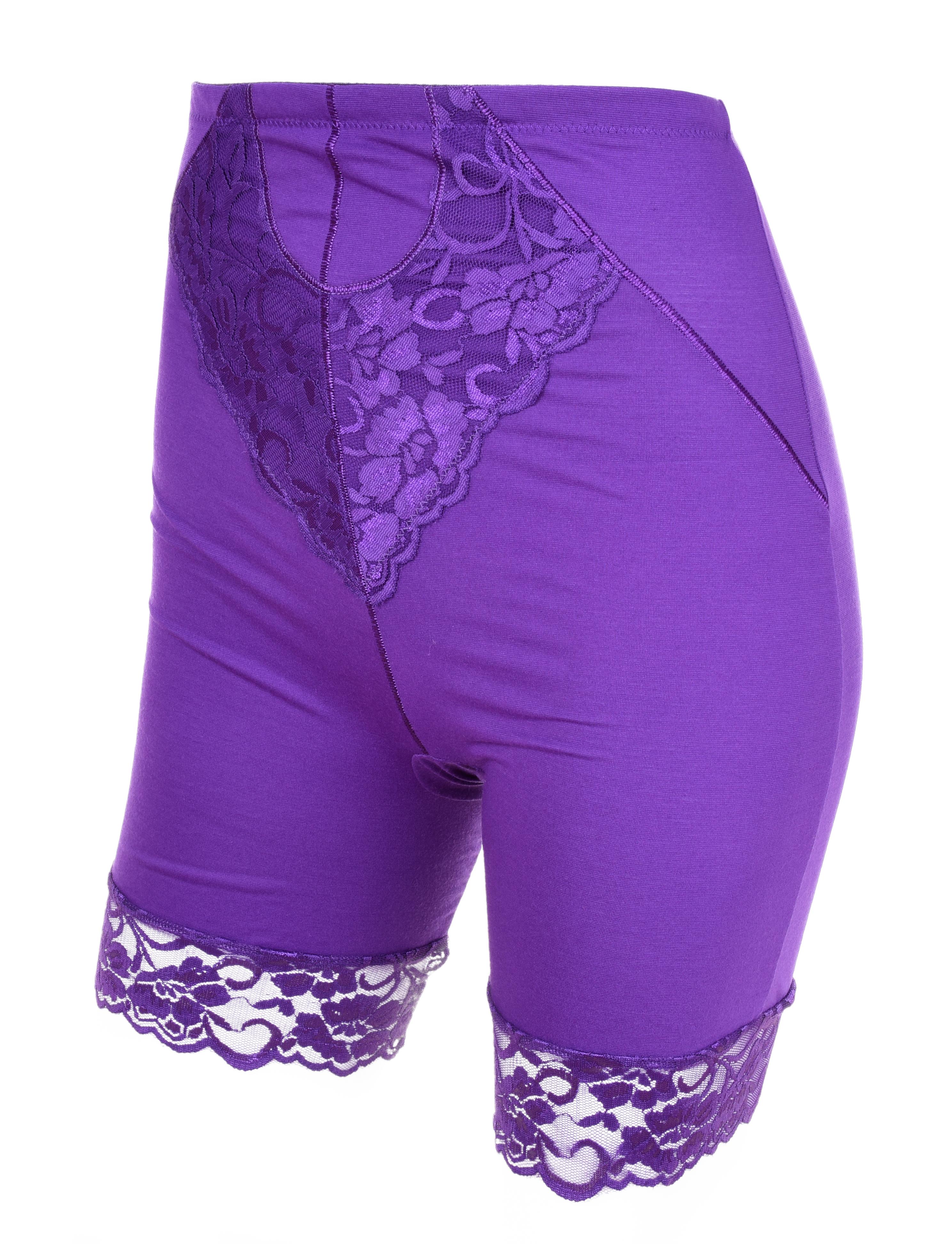 FC90881-BRIDGET LONG nohavičky s nohavičkami a vyšším pásom, fialové