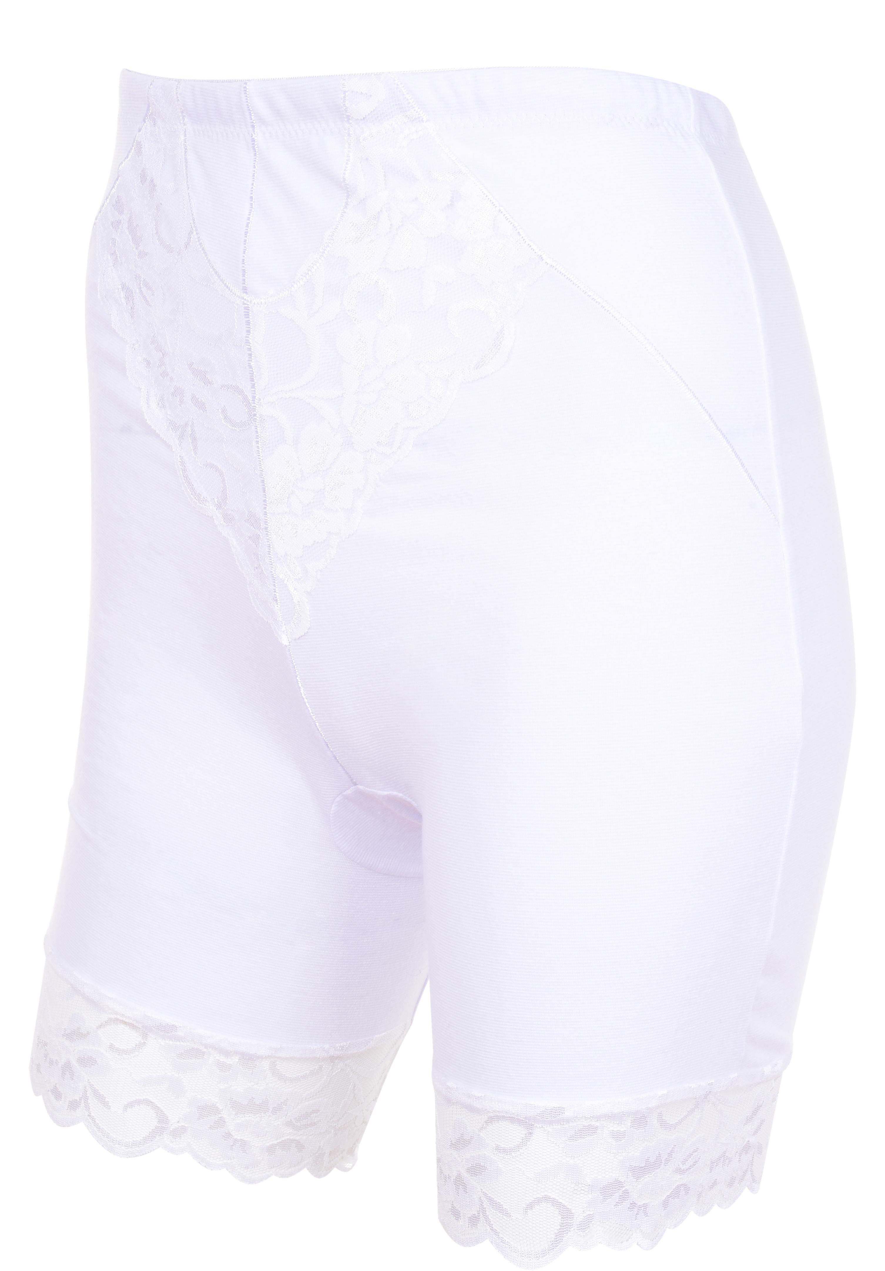 FC90901-BRIDGET LONG nohavičky s nohavičkami a vyšším pásom, biele