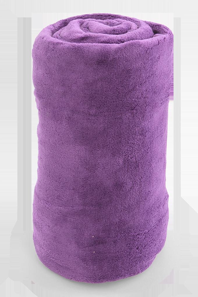 LAGOON přikrývka fialová 150 x 200 cm