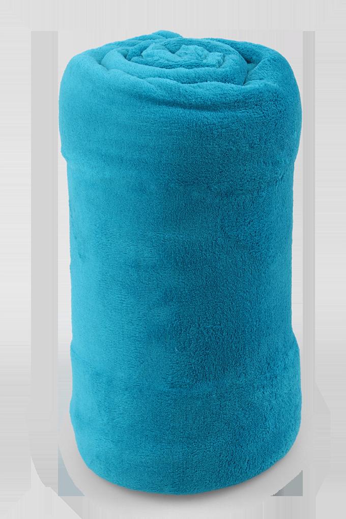 LAGOON přikrývka tm. tyrkysová 150 x 200 cm