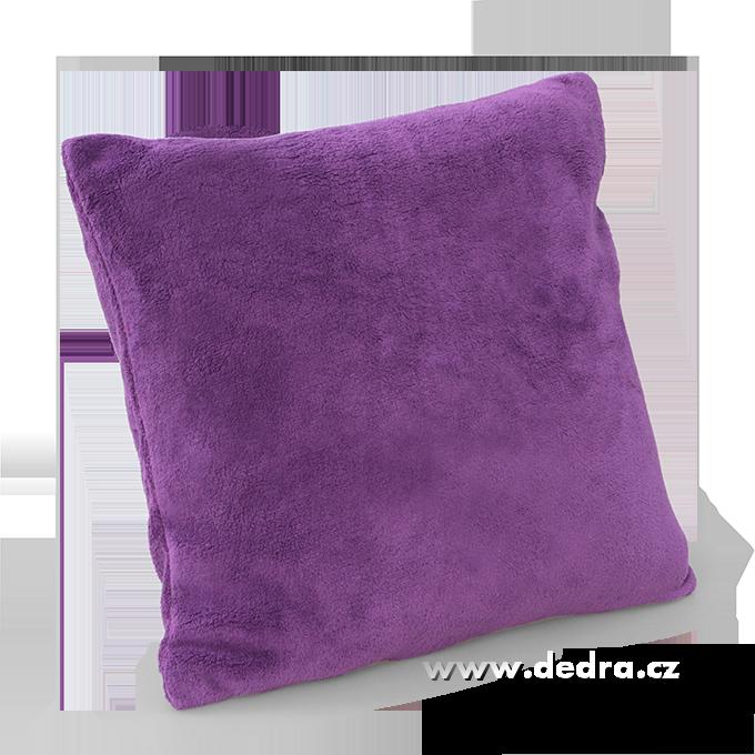 LAGOON potah na polštář fialový