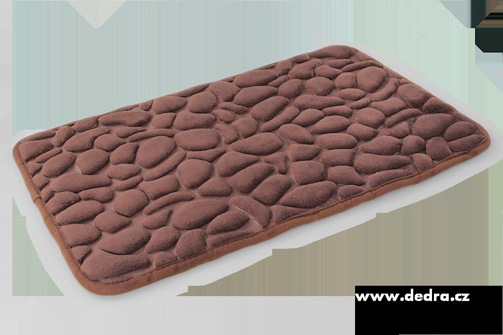 Koupelnová předložka ANATOMIXX, čokoládová 60 x 40 cm