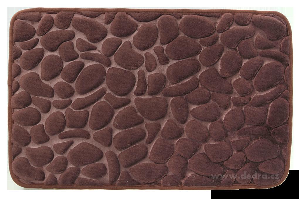 FC91194-Kúpeľňová predložka ANATOMIXX, čokoládová 60 x 40 cm