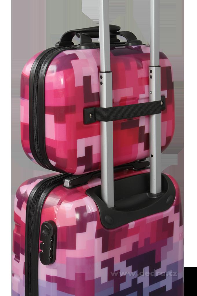 Kufr příruční větší, PINK TETRIS