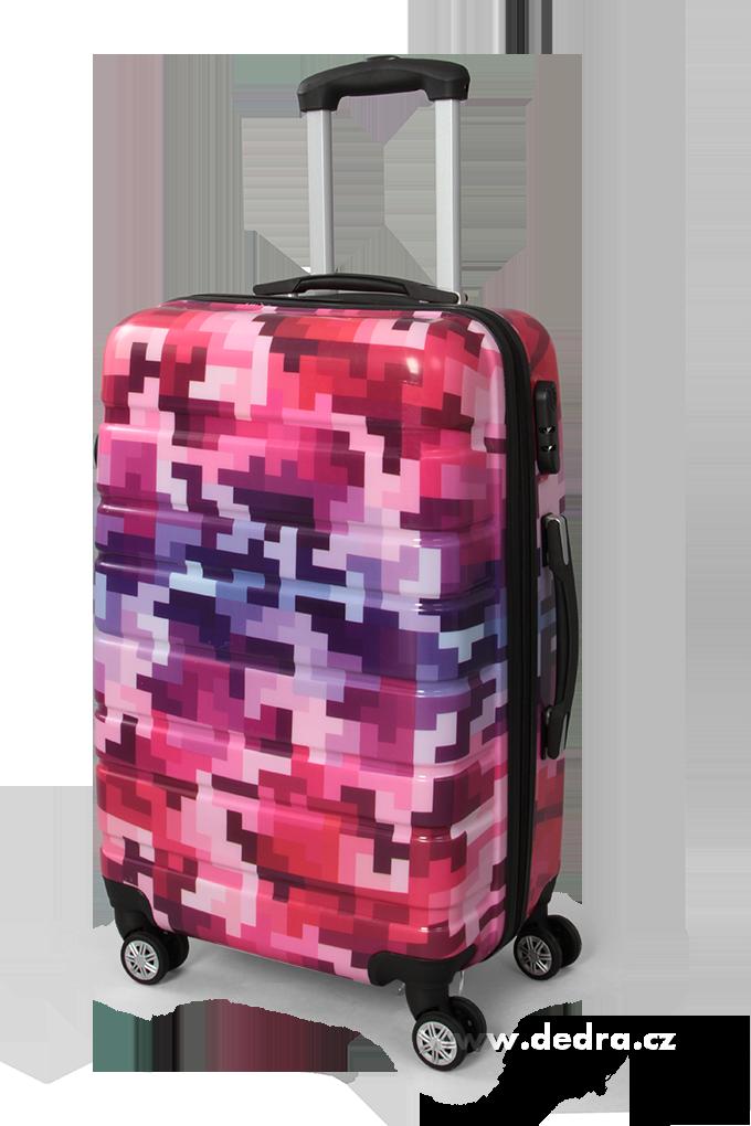 Kufr velký pink tetris 50 x 30 x 70 cm