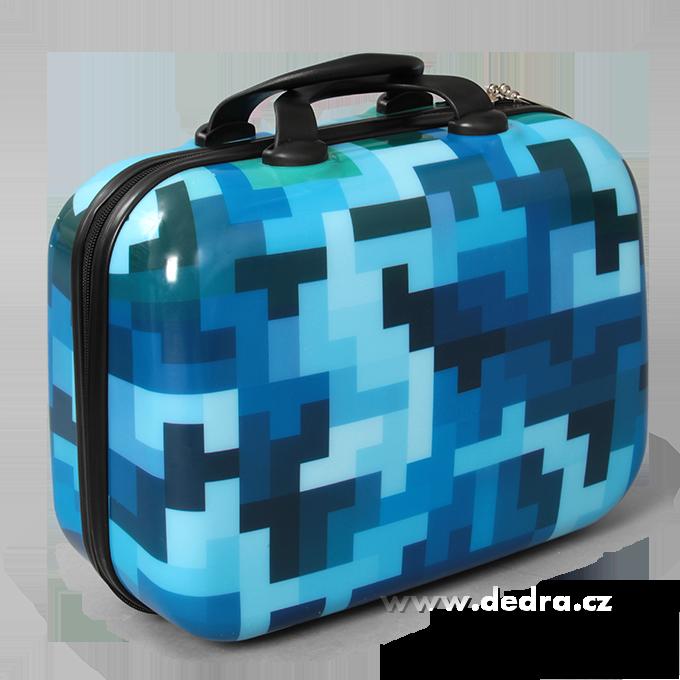 Kufr příruční menší blue tetris 32 x 14 x 24 cm