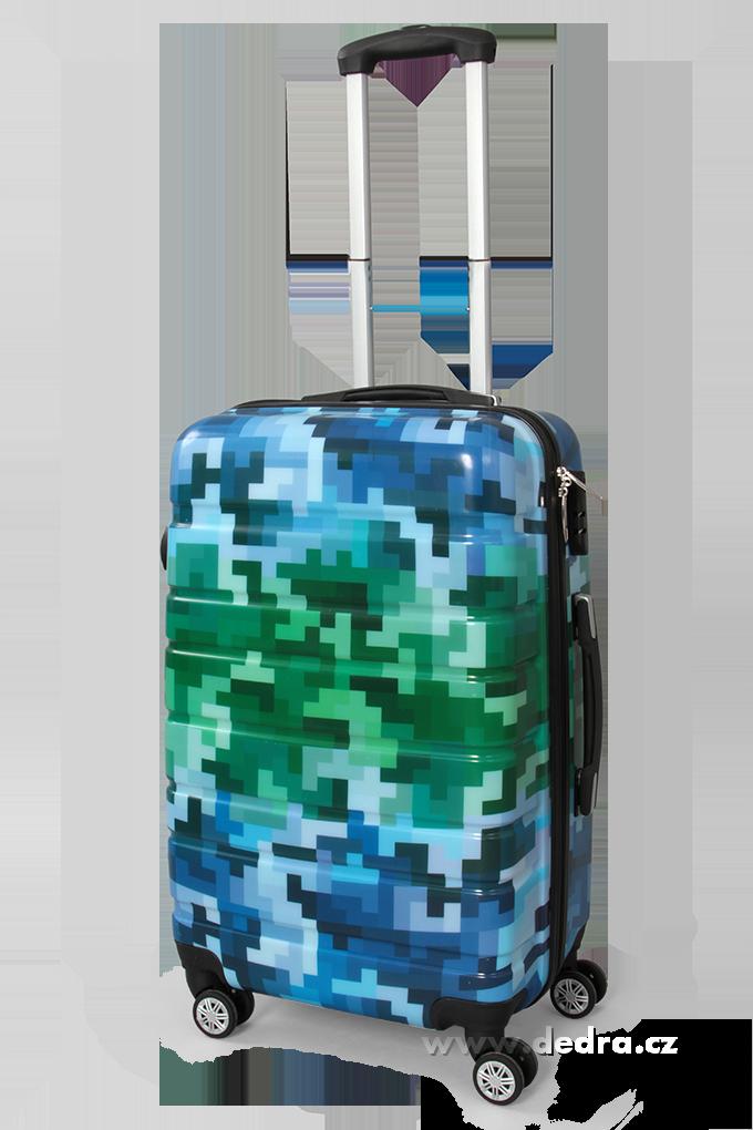 Kufr menší, blue tetris