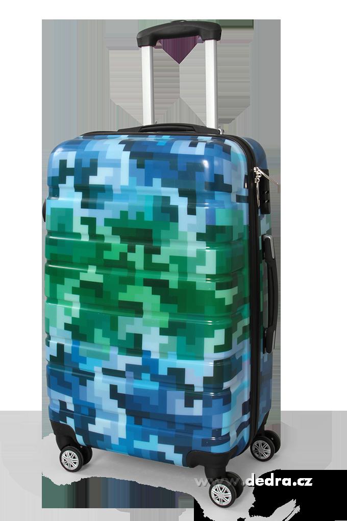 Kufr velký blue tetris 50 x 30 x 70 cm