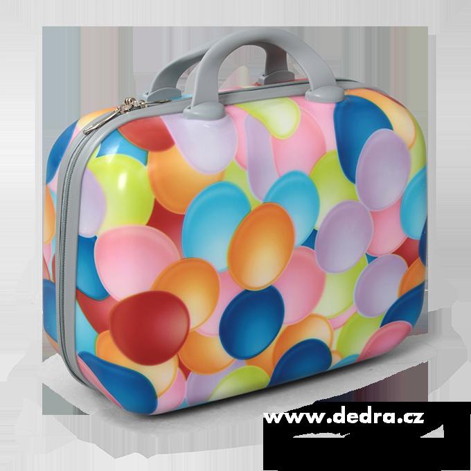Kufr příruční menší colorful bubbles 32 x 14 x 24 cm