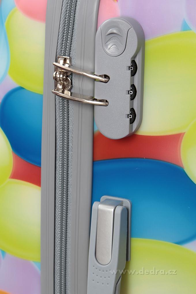 Kufr menší, colorful bubbles