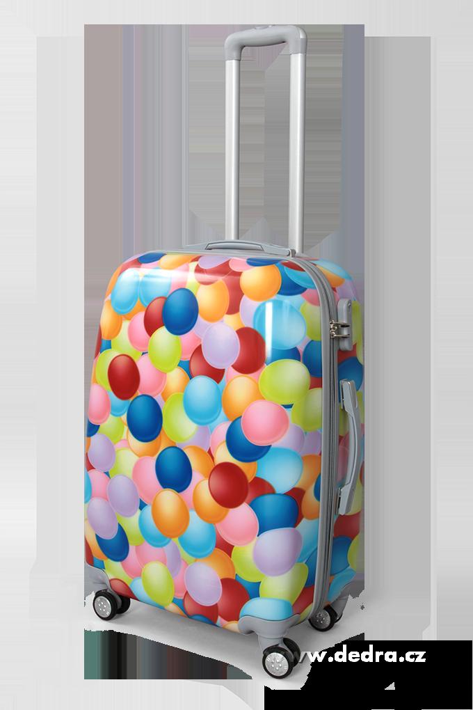 Kufr střední, colorful bubbles