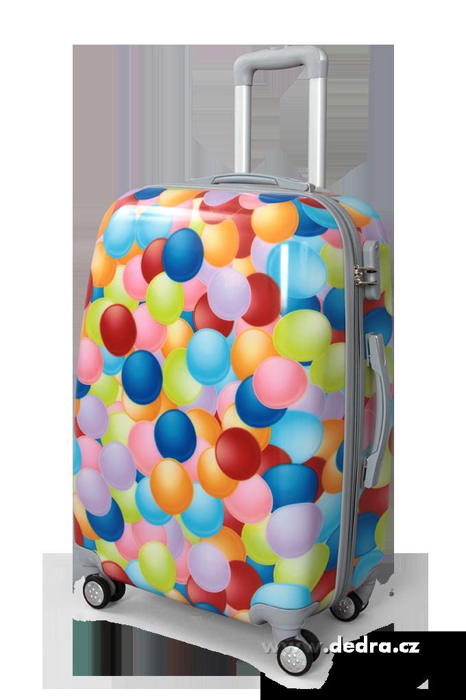 Kufr velký colorful bubbles 50 x 30 x 70 cm