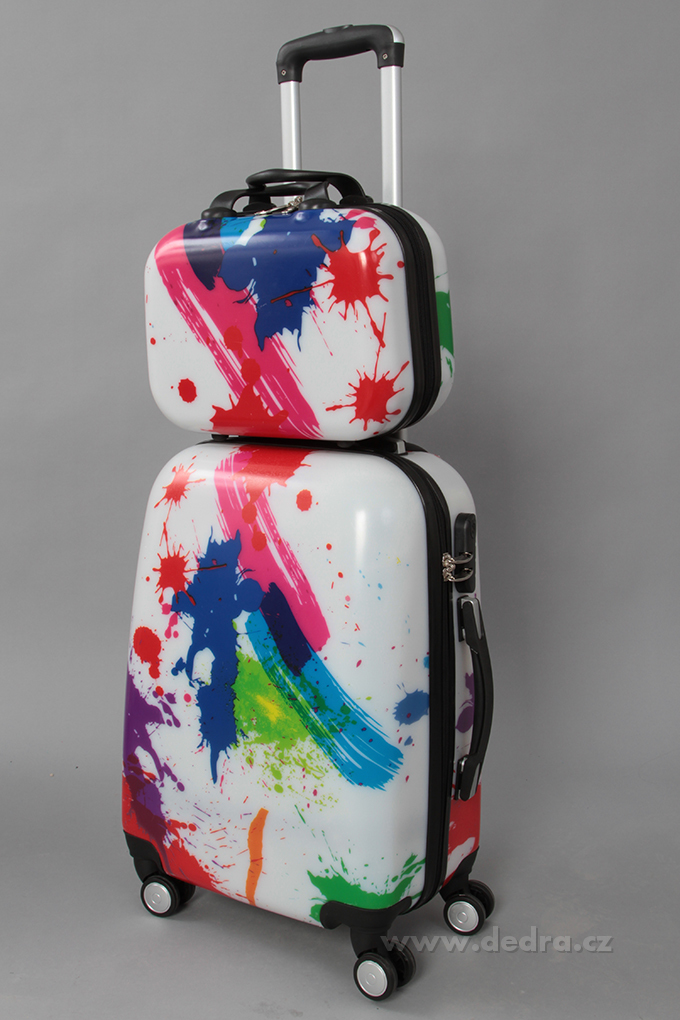 Kufr příruční menší, colored blobs