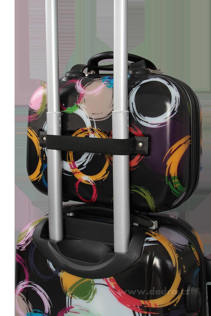 Kufr příruční menší, colored circles