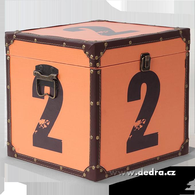 Dřevěný box středníse záměrnou patinou29 x 29 x 29 cm