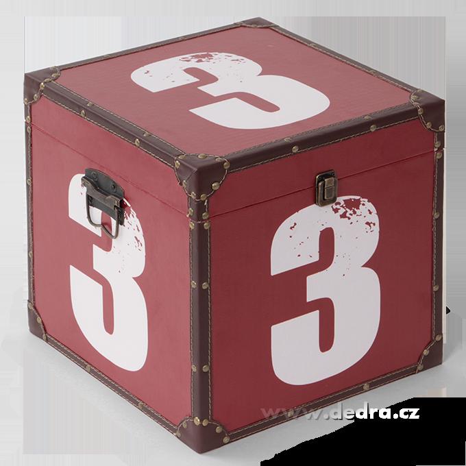 Dřevěný box velkýse záměrnou patinou34,5x34,5x34,5 cm