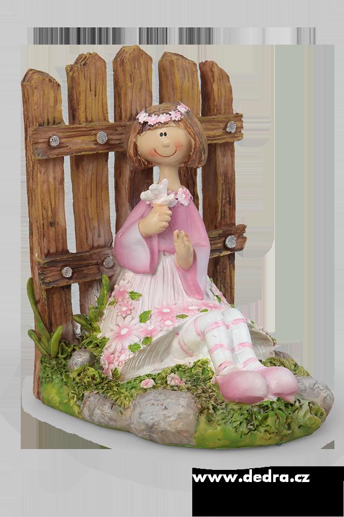 Květinová panenka, s kytkou