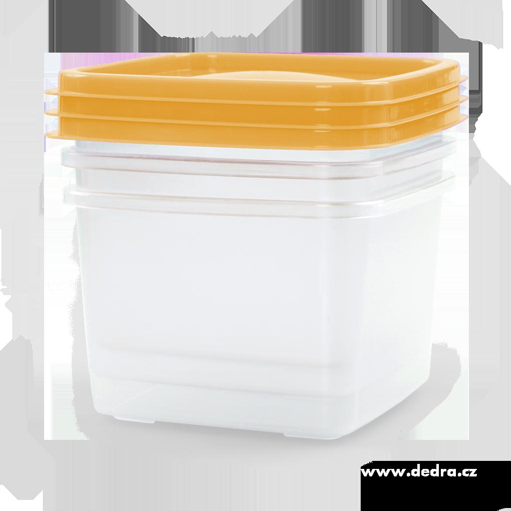 3 ks box žloutkový, 570 ml